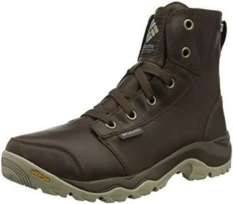 Sorel COLUMBIA Men's Casual Boots, Waterproof, CAMDEN OUTDRY LEATHER CHUKKA, Brown (Cordovan, Columbia Grey), Size: 9.5