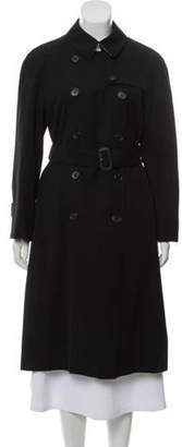 Burberry Double-Breasted Trench Coat Black Double-Breasted Trench Coat