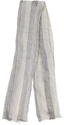 Thom Browne Striped Linen Scarf