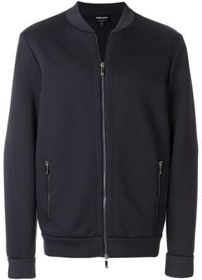 Giorgio Armani slim fitted bomber jacket