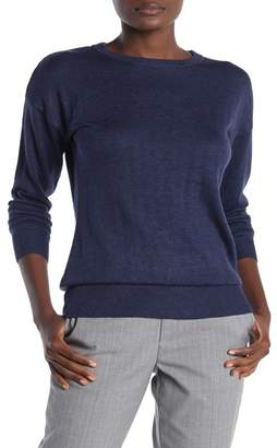 Magaschoni M BY Crew Neck Back Keyhole Pullover Sweater