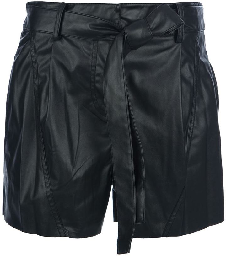 Derek Lam 10 Crosby belte tie shorts