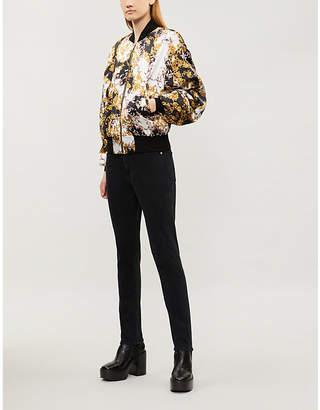 The Kooples Baroque-print silk bomber jacket