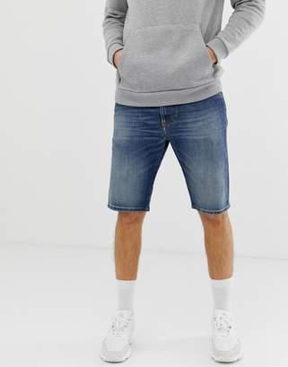 Diesel Thoshort denim shorts in 089AR mid wash