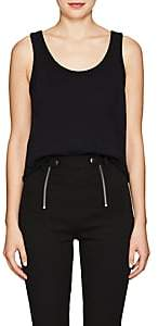 Alexander Wang Women's Distressed Cotton Terry Tank - Black