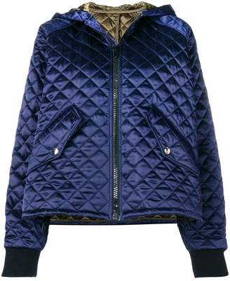 Jacket Hooded Quilted Farfetch Msgm At · gqxXw1xO