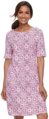 Croft & Barrow Women's Print Shift Dress