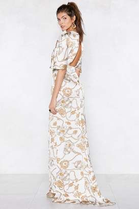 Nasty Gal At the Top Baroque Dress