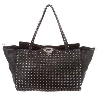 Valentino Allover Stud Shopper Bag