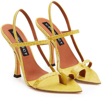 Y/Project Embossed Leather Sandals