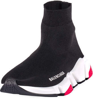 Balenciaga Speed High-Top Stretch Sock Sneakers