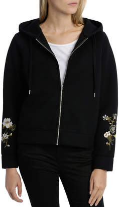 Sweat Top with Hood Embroidered