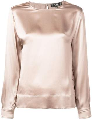 Salvatore Ferragamo satin blouse