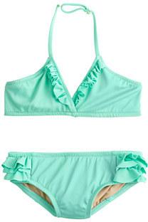 J.Crew Girls' tiny ruffles bikini set