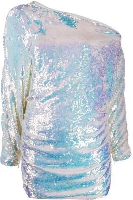 retrofete off-shoulder sequined dress