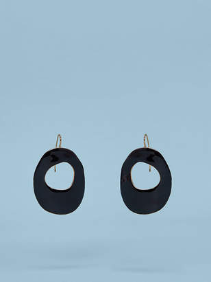 Diane von Furstenberg Enamel Hoop Earrings