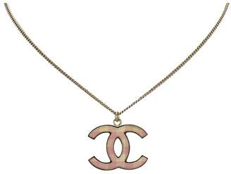 Chanel Vintage Cc Pendant Necklace