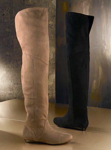 Report Over-the-knee faux suede boot