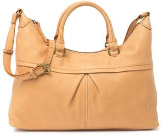 AMERICAN LEATHER CO. Montana Pleated Leather Satchel