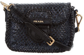 prada Prada Madras Crossbody Bag