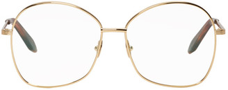 Victoria Beckham Gold Grooved Butterfly Glasses
