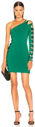 Balmain Cutout Banded One Shoulder Mini Dress