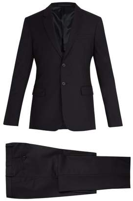 Prada - Single Breasted Wool Suit - Mens - Dark Navy