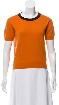 Chanel Cashmere Short Sleeve Top