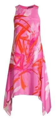 Josie Natori Prism Handkerchief Hem Dress