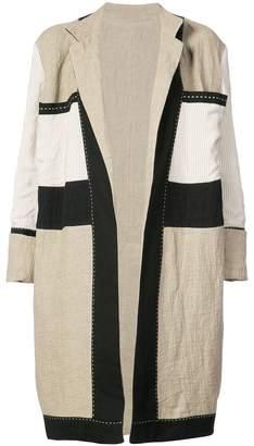 Urban Zen colorblocked overcoat