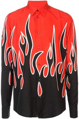 Givenchy flame-printed slim-fit shirt