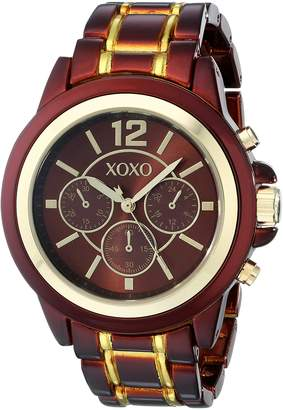 XOXO Women's XO5587 and Gold Bracelet Watch