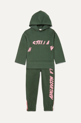 Stella McCartney Printed Organic Cotton-jersey Hoodie And Track Pants Set - Green