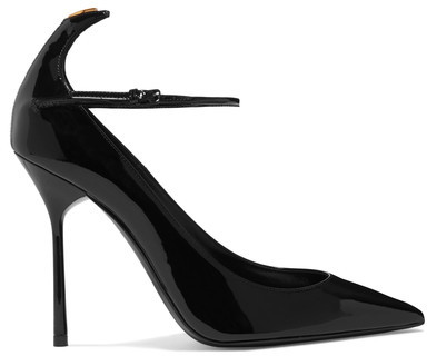 Saint Laurent - Y Patent-leather Pumps - Black