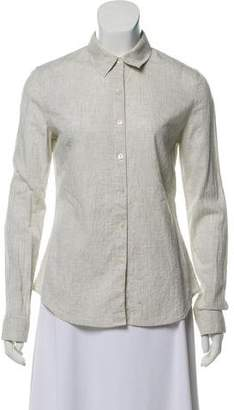 James Perse Long Sleeve Button Down Top