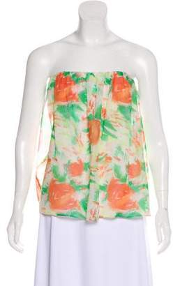 Alice + Olivia Strapless Silk Top w/ Tags
