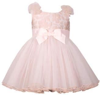 Iris & Ivy Little Girl's Social Mesh Bow Dress