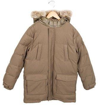 Armani JuniorArmani Junior Boys' Puffer Faux Fur-Trimmed Coat