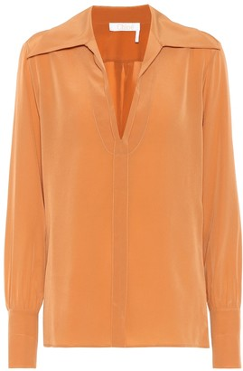 Chloé Silk crepe di chine blouse