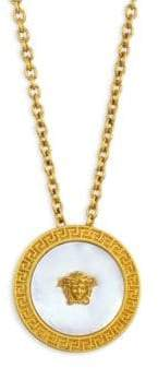 Versace Mother Of Pearl Medusa Necklace