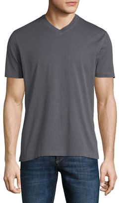 Brunello Cucinelli Washed Cotton V-Neck T-Shirt