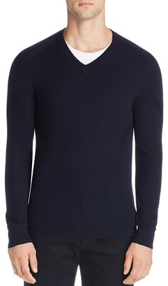 Theory Merino Wool V-Neck Sweater - 100% Exclusive $245 thestylecure.com