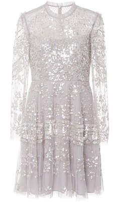 Needle & Thread Aurora Sequin Tulle Mini Dress