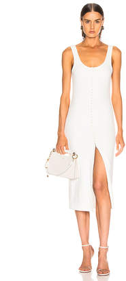 Thierry Mugler Hook and Eye Midi Dress in White   FWRD