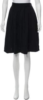 Saint Laurent Vintage Flared Knee-Length Skirt