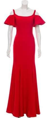 Jovani Pleated Sleeveless Gown