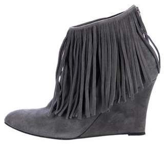 Elyse Walker Suede Fringed Booties