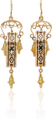 Fox and Bond Victorian 14K Gold Chandelier Earrings