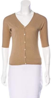 Burberry Silk Short Sleeve Cardigan