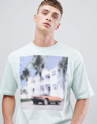ONLY & SONS Boxy Fit T-Shirt With Blurred Photo Graphic